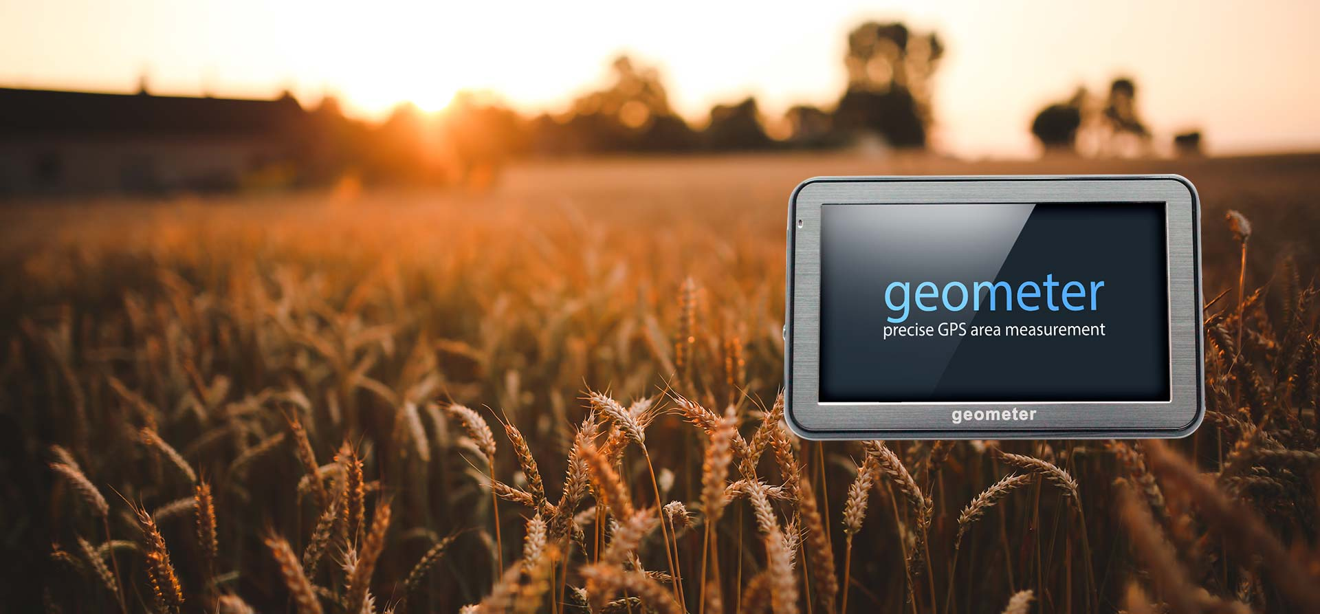 geometer gps - handheld gps device for measurement of agricultural fields, distances and perimeter. Measuring and management of the fields